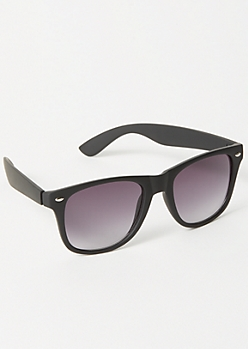 Black Retro Square Frame Sunglasses
