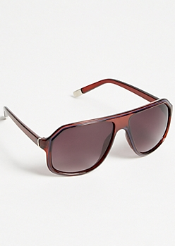 Wooden Smoky Flat Top Sunglasses