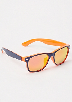 Orange Reflective Sport Sunglasses