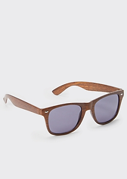 Wood Grain Print Peabody Sunglasses