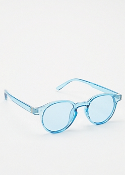 Blue Tint Round Sunglasses