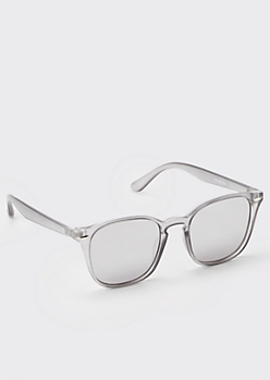 Gray Matte Transparent Peabody Sunglasses