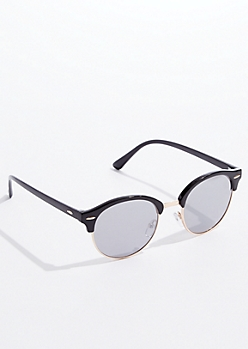 Black Wire Rim Aviator Sunglasses