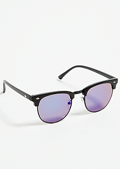 Blue Lens Square Frame Sunglasses