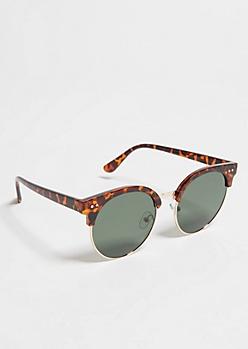 Tortoiseshell Round Sunglasses