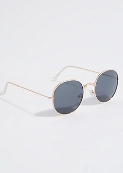 Rose Gold Dotted Sunglasses