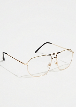 Gold Brow Bar Aviator Readers