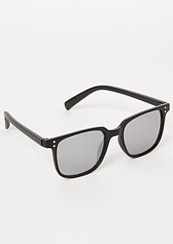 Black Matte Square Sunglasses
