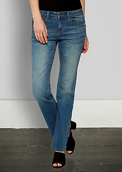 Medium Blue Vintage Bootcut Jean in Long