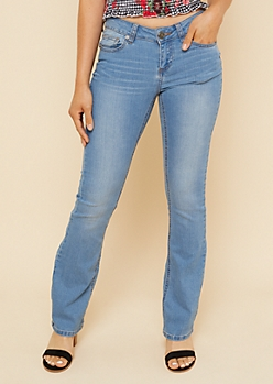 Light Wash Low Rise Bootcut Jeans