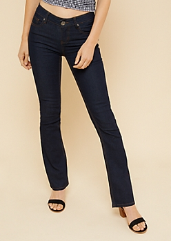Dark Rinse Low Rise Bootcut Jeans