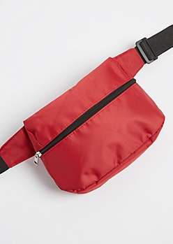 Red Nylon Fanny Pack