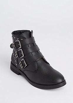 Studded & Buckled Booties