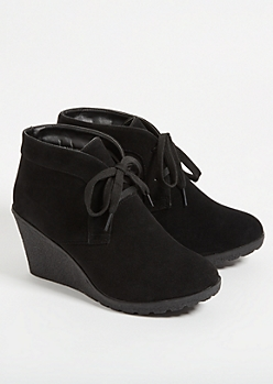 Black Platform Pixie Booties