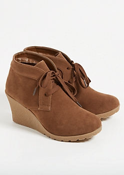 Brown Platform Pixie Booties