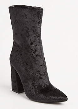 Velvet Pointe Toe Booties