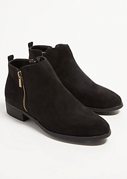 Black Essential Short Booties