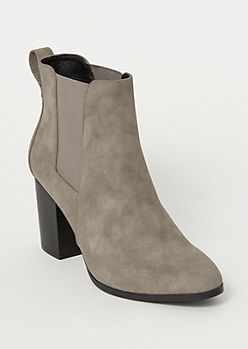 Gray Side Gore Booties
