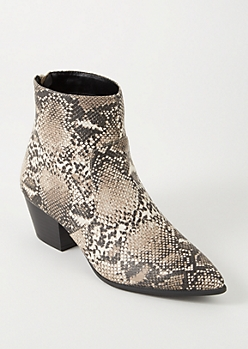 Python Zip Back Booties