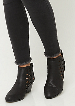 Black Triangle Cut Booties