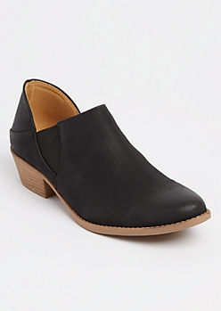 Matte Black Low Cut Booties