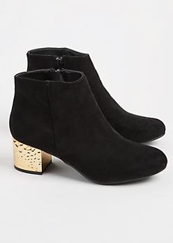 Hammered Heel Booties