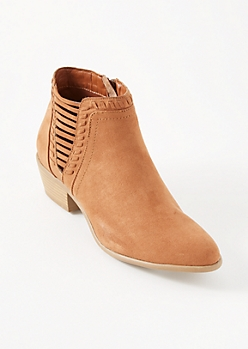 Camel Cutout Side Whipstitched Booties