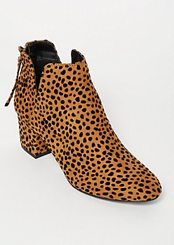 Cheetah Print Vented Booties