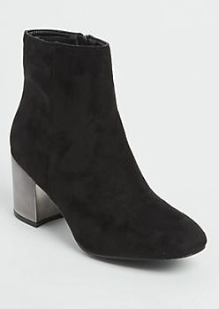 Black Mirror Heel Booties