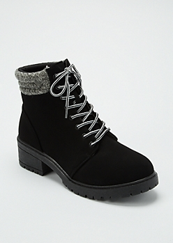 Black Short Hiker Boots