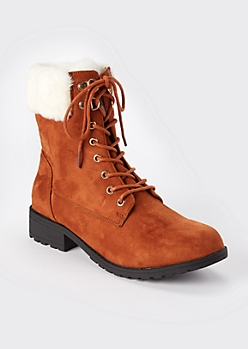 Camel Double Buckle Heeled Booties