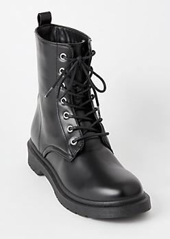 Black Lace Up Combat Boots