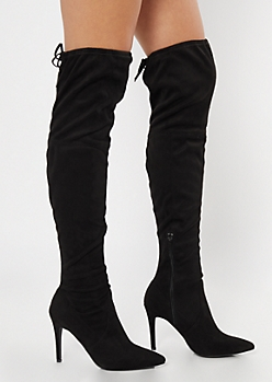 Black Stiletto Over The Knee Boots