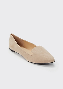 Taupe Pointed Toe Loafer