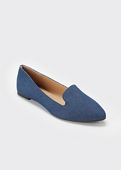 Denim Pointed Toe Loafer