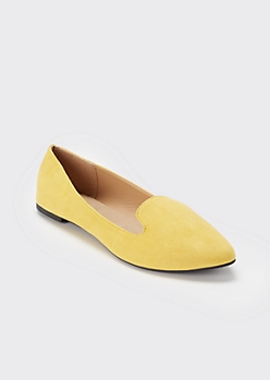 Mustard Pointed Toe Loafer