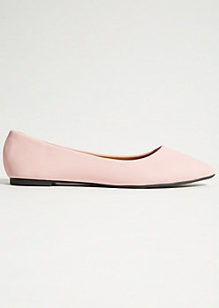 Light Pink Pointed Toe Flats