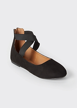 Black Strappy Ballet Flats