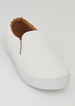 White Chevron Skate Shoes