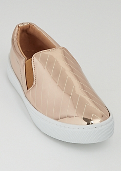 Rose Gold Chevron Skate Shoes