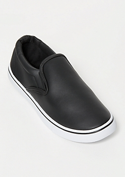 Black Double Gore Slip Ons