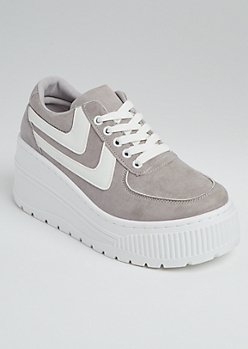 Gray Extreme Platform Sneakers