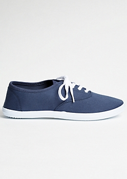 Navy Lace Up Sneaker