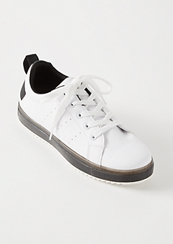 Black Low Top Jelly Sole Sneakers