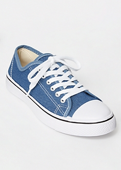 Denim Low Top Canvas Sneakers
