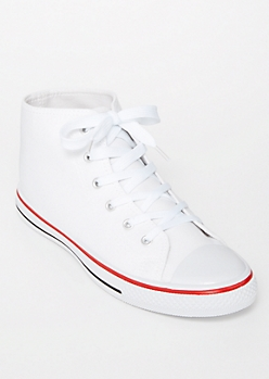 White High Top Canvas Sneakers
