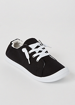 Black Scrunch Back Sneakers