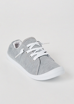 Gray Scrunch Back Sneakers