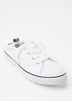 White Scrunch Back Sneakers