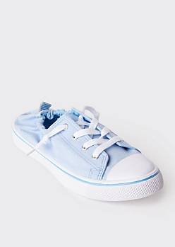 Blue Scrunch Back Sneakers